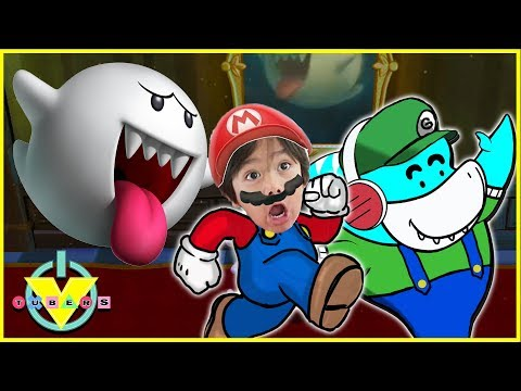 VTubers Ryan Vs. Big Gil BOO BOSS Lets Play Super Mario 3D Land