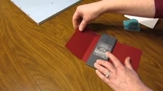 we r memory keepers envelope notcher pocket tri fold card