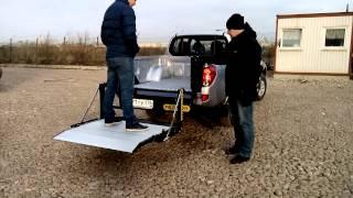 Гидроборт PALFINGER на пикапе Mitsubishi L200(Гидроборт PALFINGER грузоподъемностью 400 кгна пикапе Mitsubishi L200., 2014-11-06T16:04:41.000Z)