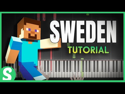 "How to play SWEDEN from ""Minecraft"" - SMART & Easy Piano Beginner Tutorial"