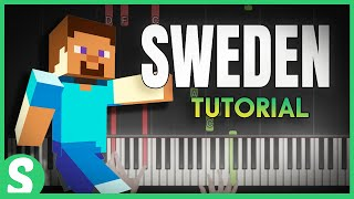 """How to play SWEDEN from """"Minecraft"""" - SMART & Easy Piano Beginner Tutorial"""