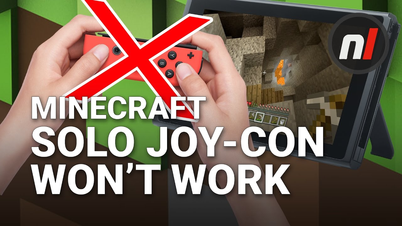 Sideways Joy-Con Doesn't Work in Minecraft on Switch, But is That a  Problem? | Soapbox