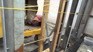 Каркас стены для монолитного пенобетона(Строительство дома из монолитного фибропенобетона в комбинированной опалубке. Подробнее на странице моег..., 2014-08-15T17:46:44.000Z)