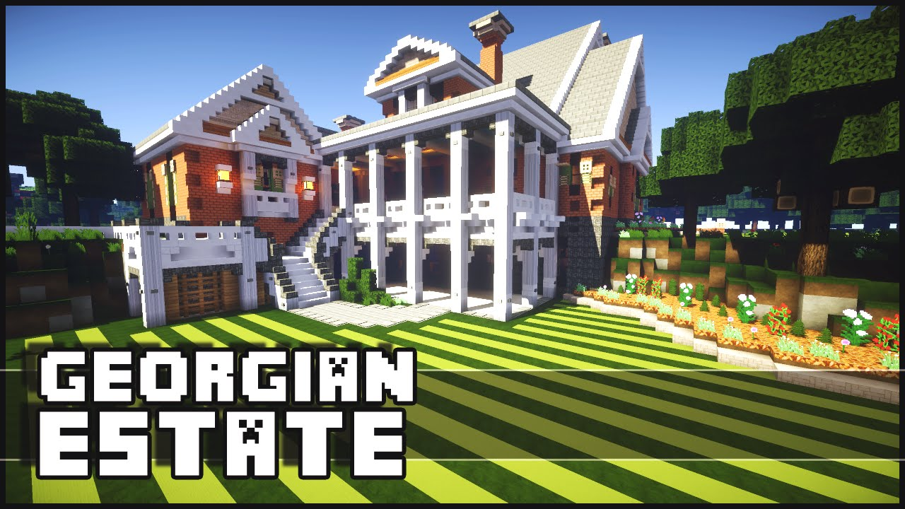Georgian Colonial Mansion minecraft - georgian estate - youtube
