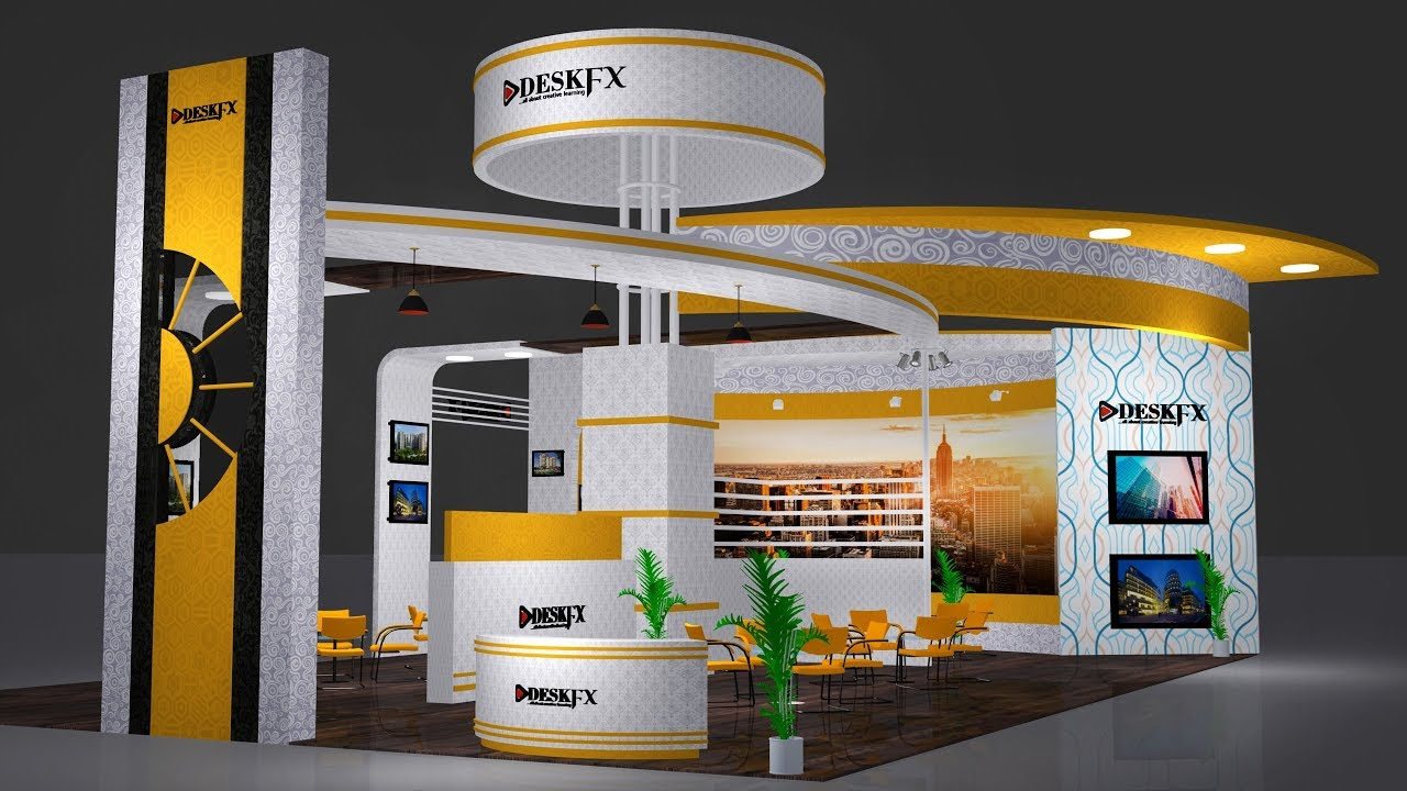 Exhibition Stall Lights : Ds max exhibition stall tutorial and lighting and very quick