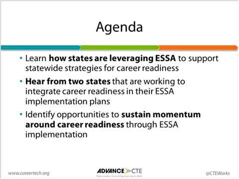 Leveraging ESSA's Momentum to Advance Career Readiness