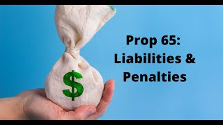 Prop 65 Liabilities & Penalties