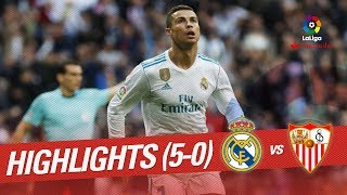 Resumen de Real Madrid vs Sevilla FC 5-0