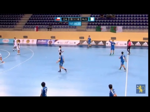 Chile - Algeria (Group B). IHF Men's Youth World Championship