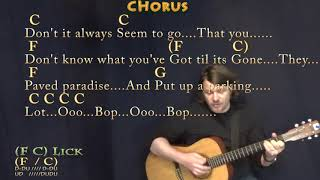 Big Yellow Taxi (Joni Mitchell) Strum Guitar Cover Lesson in C with Chords/Lyrics