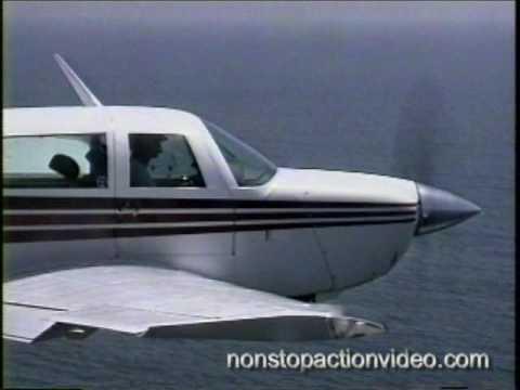 Mooney low level scenic beach flight along California coast - MUST SEE -