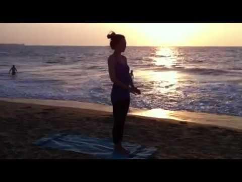 Impromptu Yoga At The Beach