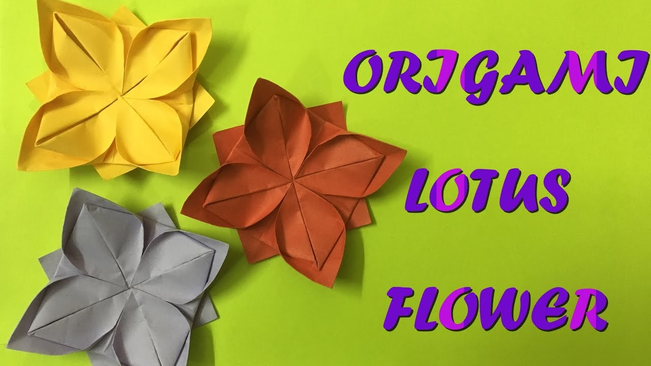 how to make an origami lotus flower simple and easy