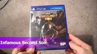 Unboxing Infamous Second Son Sucker Punch Playstation 4 PS4 Sony DLC Cole Limited Edition
