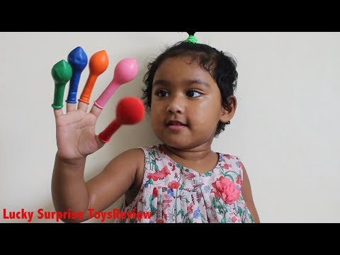 Learn Colors with Ishfi & Balloon Finger Family Song For Children