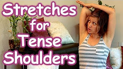 Stretches for Tense Shoulders & Back Pain Relief, Beginners How to Routine, Safe Stretching Yoga