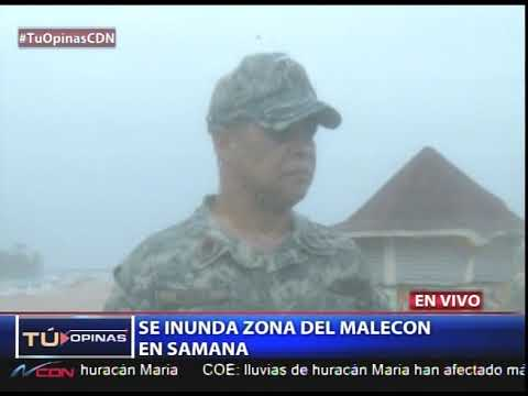 Se inunda zona del malecón en Samaná