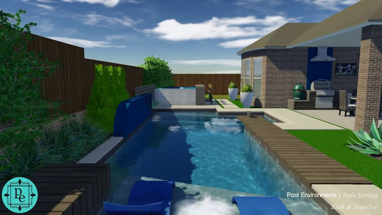 "West Frisco pool concept with ""boardwalk"" table - YouTube"