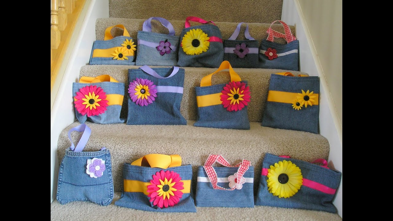 DIY RECYCLED IDEAS OF OLD JEANS Art Craft