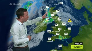 Wednesday mid-morning forecast 05/07/2017