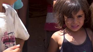 UNICEF Representative in Syria, Fran Equiza, visits Areesha camp for displaced families