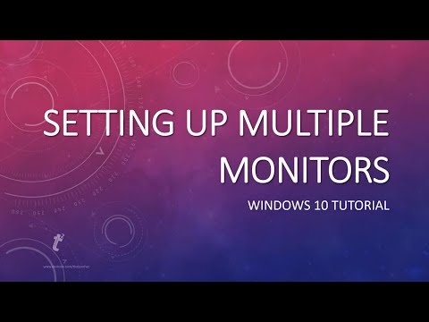 how-to-setup-multiple-/-dual-monitors-in-microsoft-windows-10-tutorial