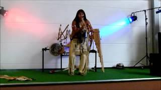 Leo Rojas - Indianermusik auf Panflöte , kleines Konzert in 2012 , Modellbahn Wiehe , Indianermuseum