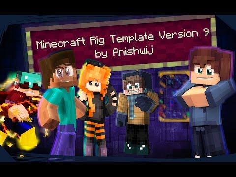 Cinema 4D - Minecraft Rig Template Version 9 (Presentation)