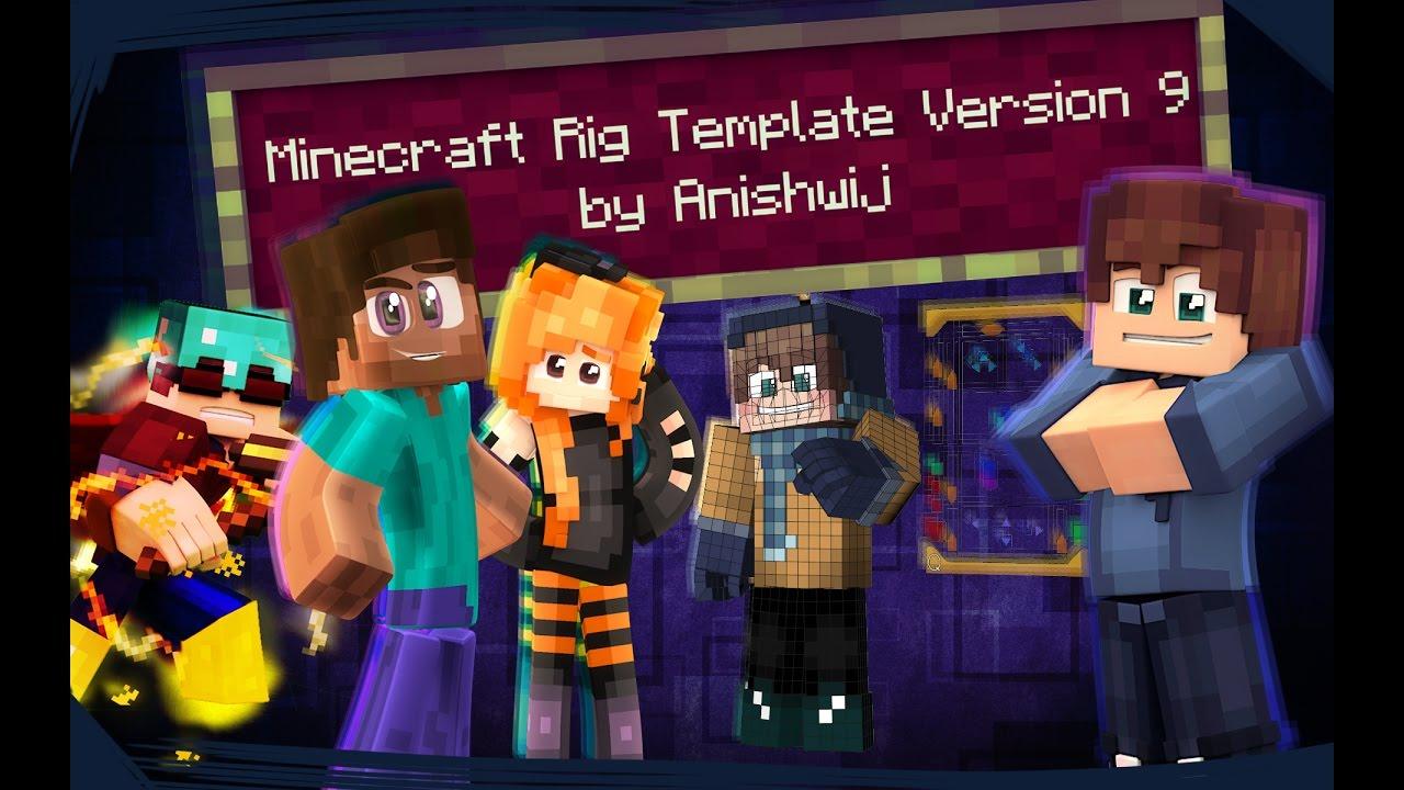 Cinema 4D - Minecraft Rig Template Version 9 (Presentation)