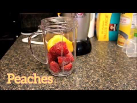 My favorite Strawberry/Peach Smoothie�� ��