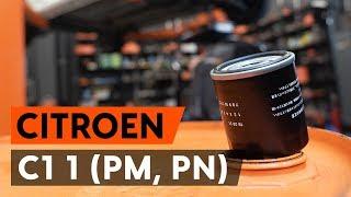 CITROËN C1 (PM_, PN_) Öljynsuodatin asennus : ilmainen video
