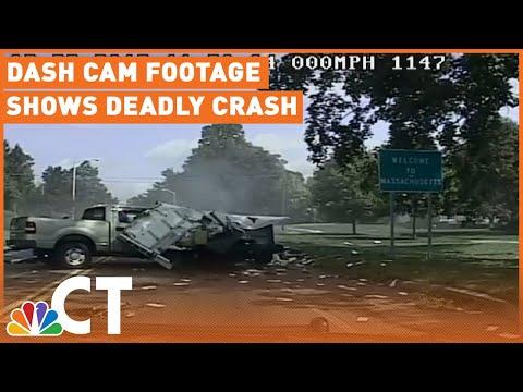 Dash Cam Footage Shows Deadly Crash During Police Pursuit | NBC Connecticut