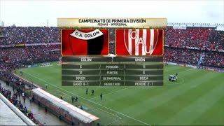 Colon de Santa Fe vs Union full match