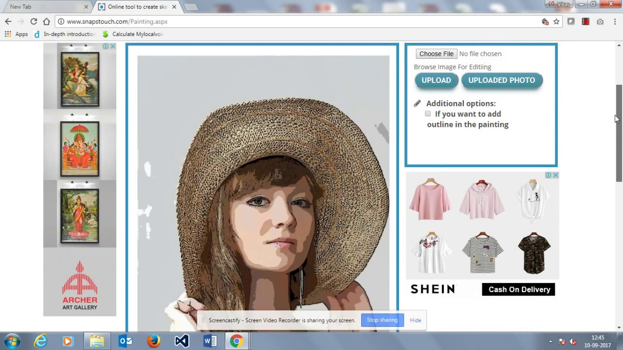 Snapstouch: Free online tool to convert photo to sketch, painting ...