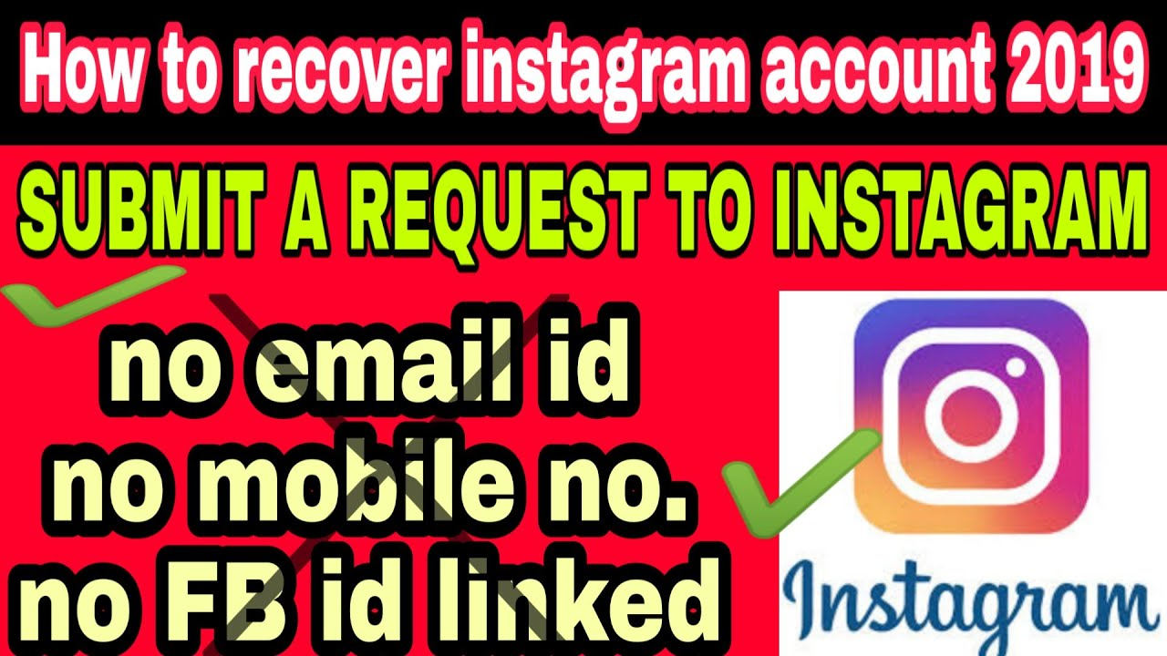 how to recover instagram account 200 without email and Mobile number part 20