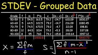 Standard Deviation of Grouped Data