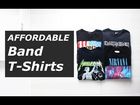 Affordable Band T Shirts | Vintage, Rock, Tour, Nirvana, Metallica, Summer 2016 | Gallucks