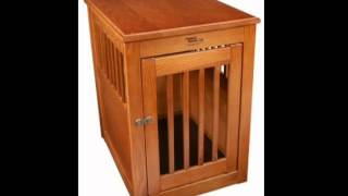 Dynamic Accents 52168 Oak End Table Pet Crate Medium Burnished Oak