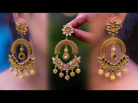 Make beautiful Paper Earrings | handmade jewelry | made out of paper | Art with Creativity