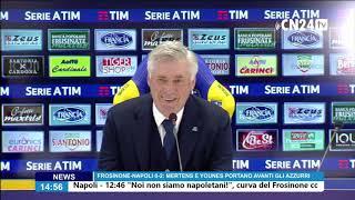 Frosinone-Napoli 0-2, Carlo Ancelotti in conferenza stampa post-partita
