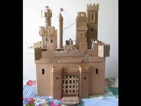Как сделать замок из картона своими руками схемы поэтапно