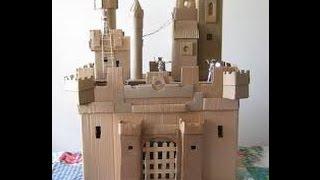 видео Как сделать средневековый замок из бумаги своими руками по схеме или шаблону