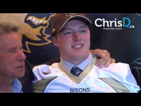 Bisons Ink Linebacker Brody Williams - October 25, 2016 - Winnipeg, Manitoba