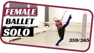 female ballet solo- dancing 365 ballets- ballet solo 359