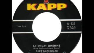 """Burt Bacharach -- """"Saturday Sunshine"""" (Kapp) 1963"""