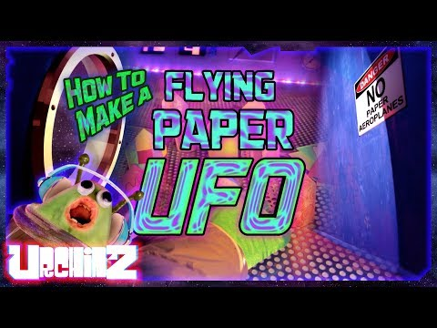 How To Make A *Flying* Paper UFO | URCHINZ