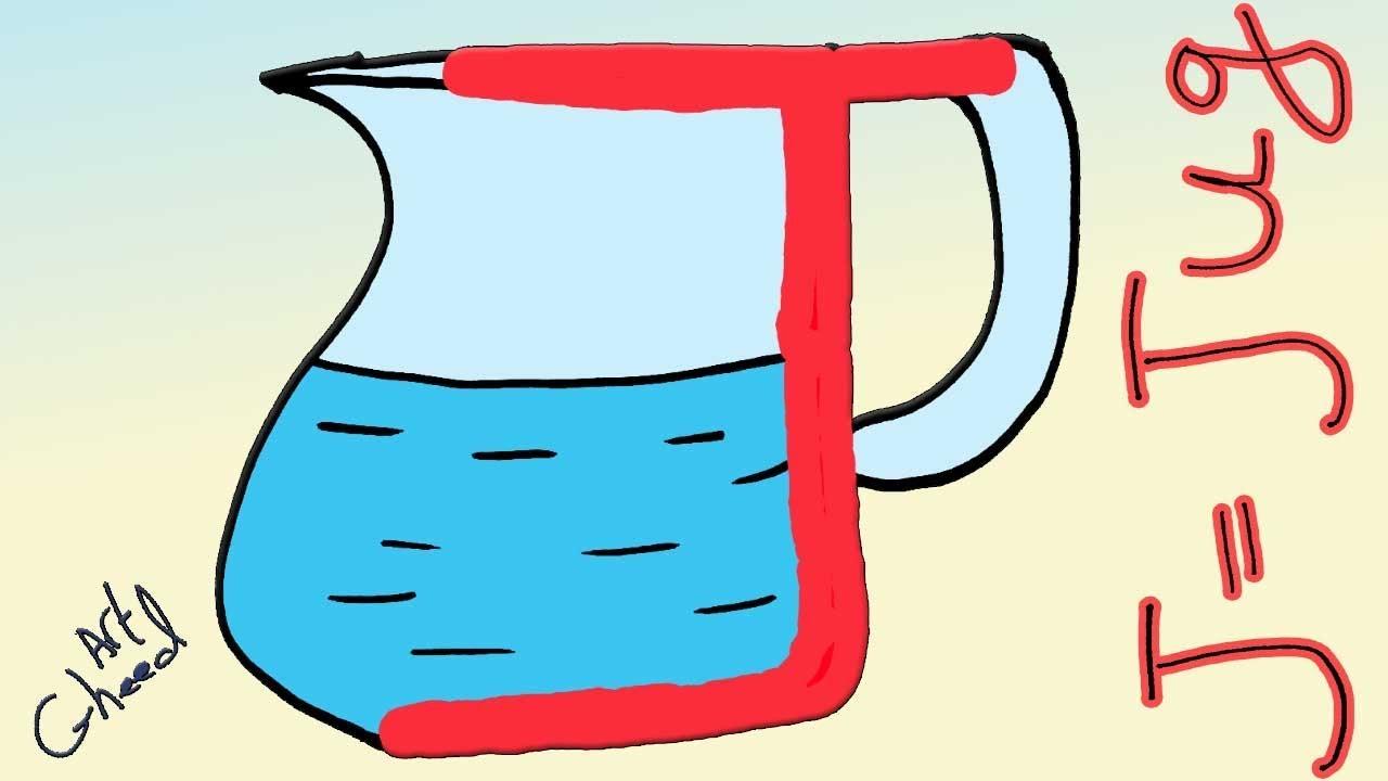 تحويل حرف J Letter الى ابريق Jug تعليم الرسم للاطفال Youtube