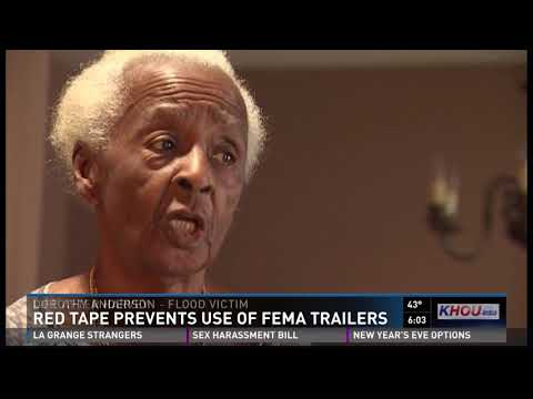 Red tape prevents use of FEMA trailers