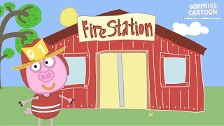 Fire Truck, Three Little Pigs, Big Gray Wolf, Gingerbread - Preschool Songs Animation Compilation #3