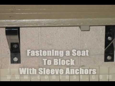 Fastening A Bench Seat To Block Wall Using Sleeve Anchors
